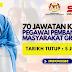 70 Kekosongan Pegawai Pembangunan Masyarakat Gred S41. Gaji RM2078.00 - RM9544.00