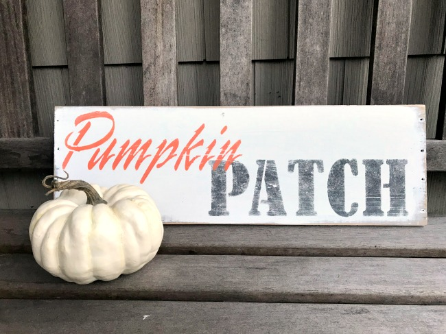 Rustic Pumpkin Patch Stenciled Sign