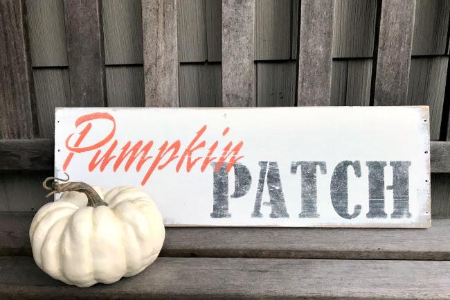Rustic Pumpkin Patch Stenciled Sign