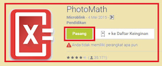 gambar cara download aplikasi photomath
