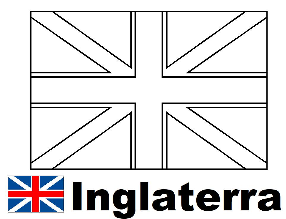 Bandera De Inglaterra Para Colorear E Imprimir Bandera