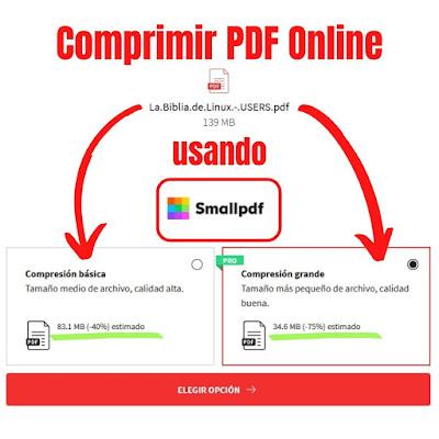 Cómo comprimir PDF gratis y online con SmallPDF
