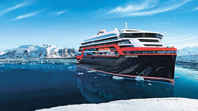 Hurtigruten's Roald Amundsen To Sail From New York As Part of Repositioning to Antarctica.