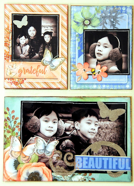 Be Fabulous Misc Me Pages by Irene Tan using BoBunny Butterfly Kisses Collection