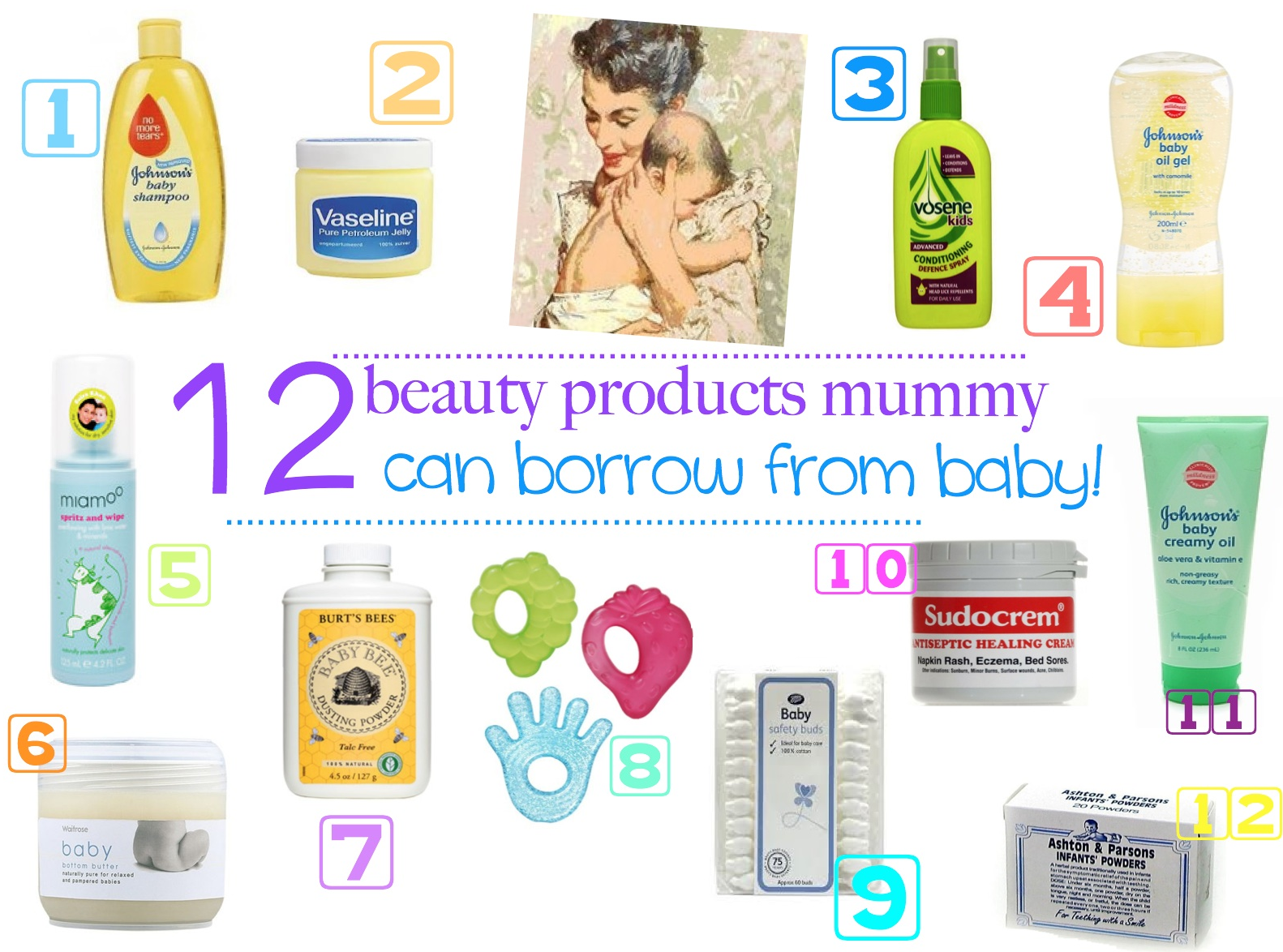 mamasVIB | V. I. BEAUTY: 12 Beauty products that busy mama's can borrow from baby…that REALLY work!, 12 Beauty products that busy mama's can borrow from baby…that really work | baby beauty | mama beauty products | double use products | baby products | mamasVIB | beauty for baby | fast beauty fixes for mums