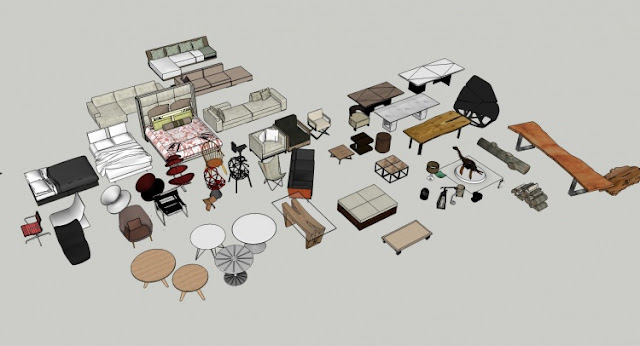 Sketchup 3D Free model collection –Furniture  Collection 2