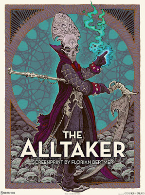 """San Diego Comic-Con 2020 Court of the Dead """"The Alltaker"""" Screen Print by Florian Bertmer x Sideshow Collectibles"""