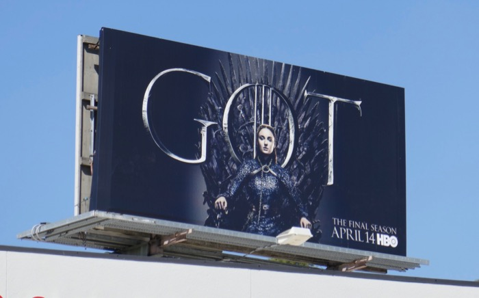 Game of Thrones Sansa Stark final season billboard