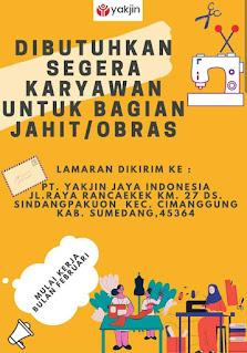 Lowongan Kerja PT Yakjin Jaya Indonesia