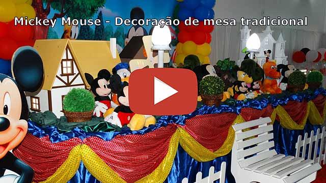 Decoração Mickey Mouse tradicional luxo