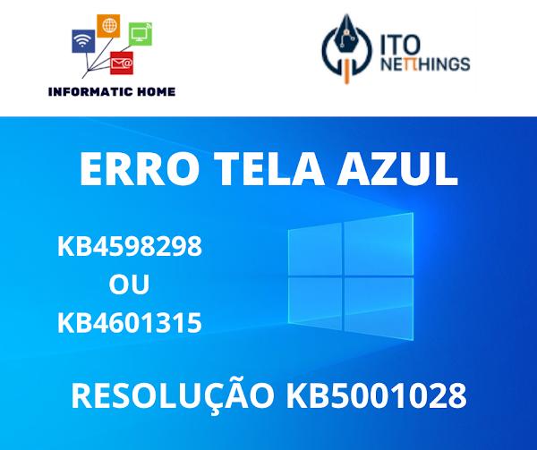 Erros de Tela Azul?? Resolva-os com a nova atualização KB5001028