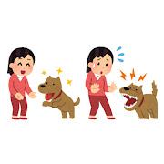 犬がなつく人・なつかない人のイラスト(女性)