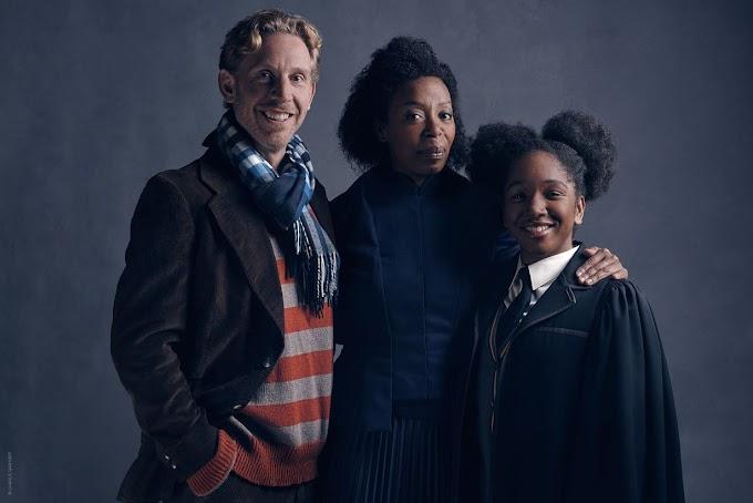 Novos retratos dos personagens Ron, Hermione e Rose Granger-Weasley em The Cursed Child.