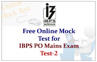 IBPS PO Mains 2015- Free Online Mock Test-2