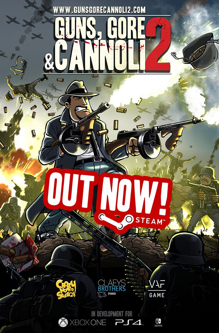 تحميل لعبة الأكشن Guns Gore and Cannoli 2 PC