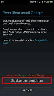 email pemulihan akun