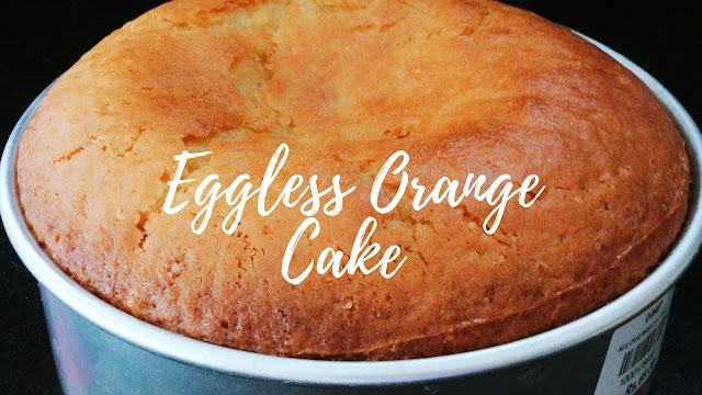 No Butter Eggless Orange Cake - Egg-less Butter-less Orange Cake