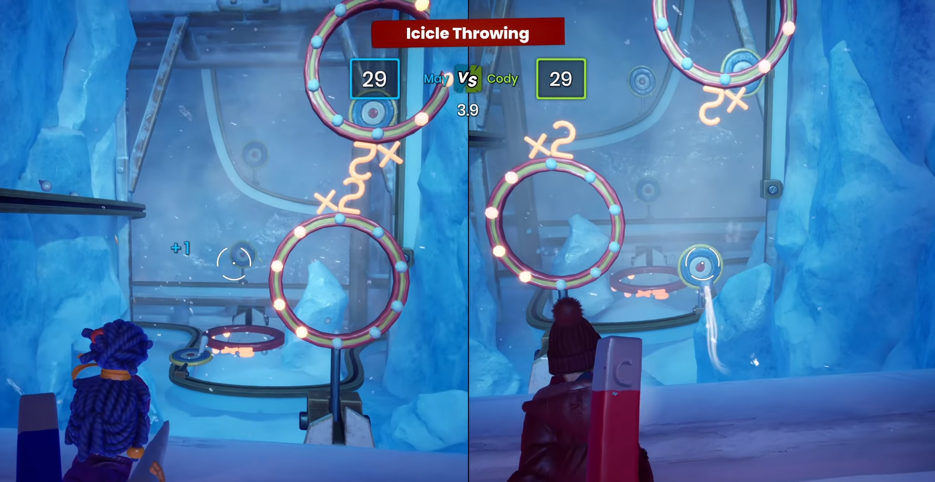 """Mini-game number 14 """"Throwing icicles"""""""