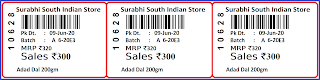 Surbhi Store 34MMx25MM 3raw in one Line Design Barcode for Speed Solver Software