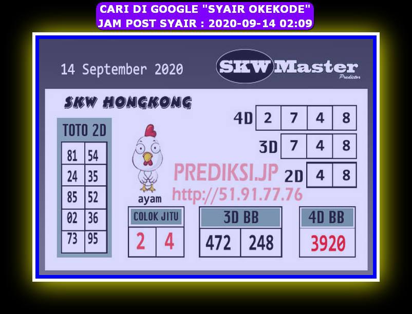 Kode syair Hongkong Senin 14 September 2020 221