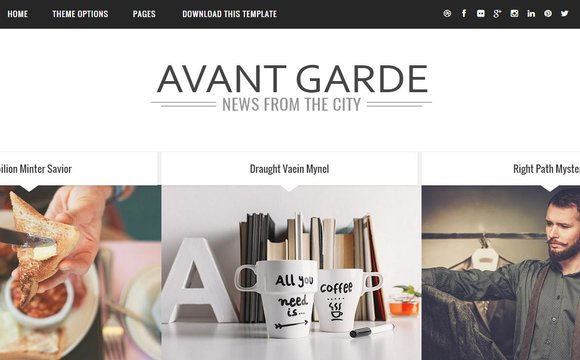 Avant Garde Responsive Blogger Template Free Download