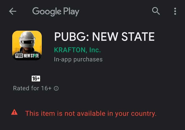 Is Pubg New State available in India