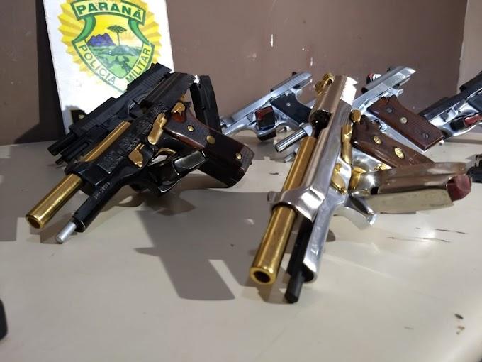 Paraguaias são presas com pistolas e carregadores de fuzil no Paraná
