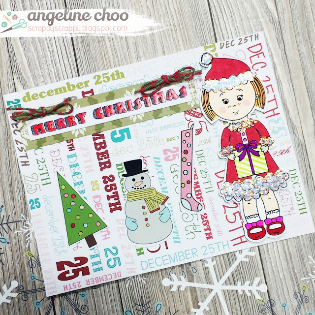ScrappyScrappy: Christmas in August with The Cutting Cafe #scrappyscrappy #thecuttingcafe #printable #christmas #holiday #greetingcard #card #cardmaking #papercraft #stamp #glitter #copic #merrychristmas #trendytwine