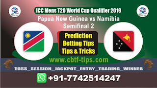 Who will win Today WC T20 Qualifier, Semifinal Match NAM vs PNG Semifinal, ICC Men's WC T20 Qualifier 2019