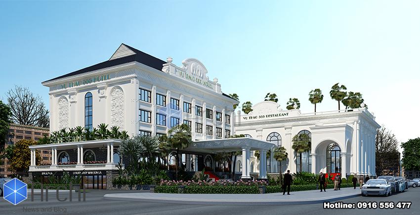 Hình ảnh: Cách sử dụng màu sắc và chất liệu hợp lý của thiết kế khách sạn 4 sao Sơn La