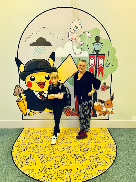 Photo op spot inside Pokemon Centre London