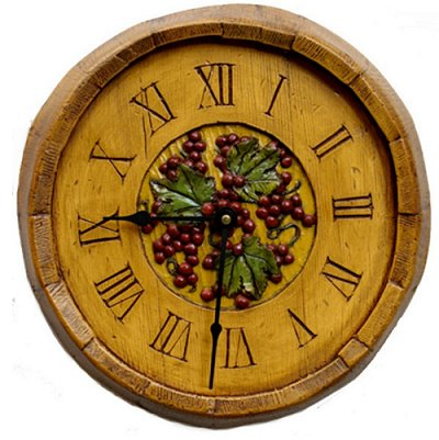 Wine Decor Barrel Wall Clock tuscan decor tuscan vineyard wall decor wine bar wall decorations