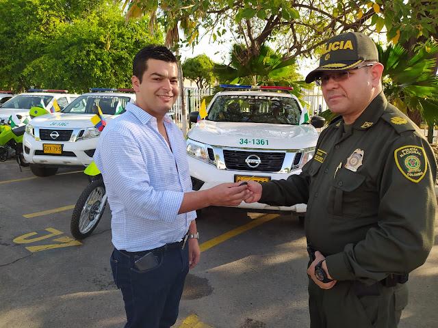 Llegaron vehículos para reforzar la seguridad en el Cesar