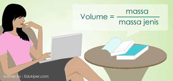 Rumus menentukan volume zat jika massa diketahui