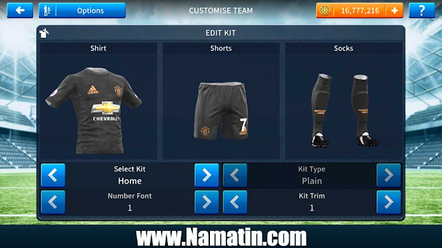 Kaos Dream League Soccer Manchester United Ketiga