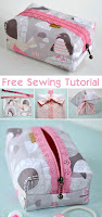 Boxy Zipper Bag Pouch Sewing Tutorial