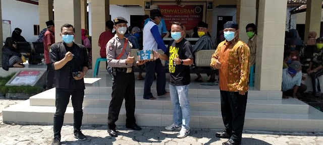 Bantuan Hand Sanitizer Sat Binmas Polres Lumajang