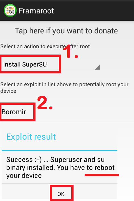 HOW TO ROOT OR UNROOT ANDROID MOBILE using framaroot app