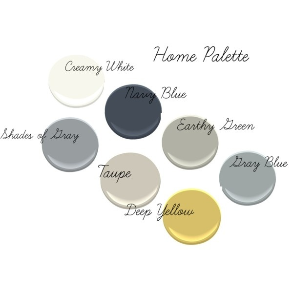 Benjamin Moore Colors From Upper Left To Lower Right Simply White Hale Navy Fieldstone Half Moon Crest Forget Revere Pewter Luxurious Yellow