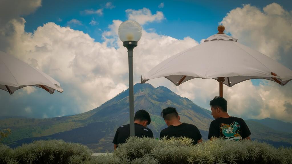 kafe view gunung batur di bali