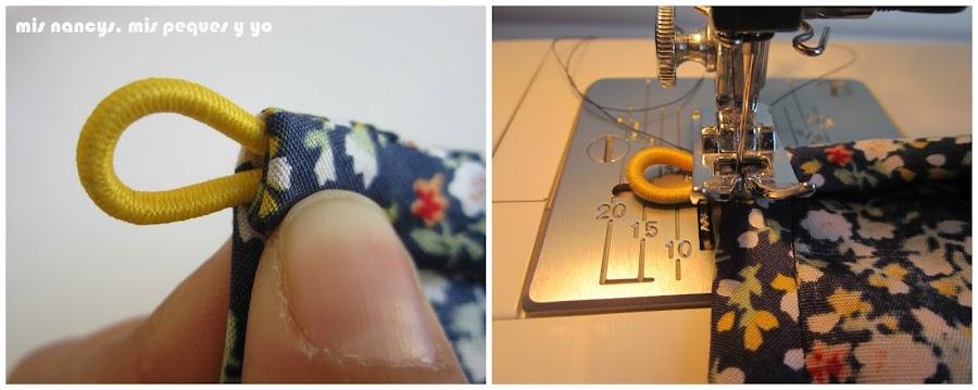 mis nancys, mis peques y yo, tutorial blusa sin mangas niña (patrón gratis), colocar goma para presilla