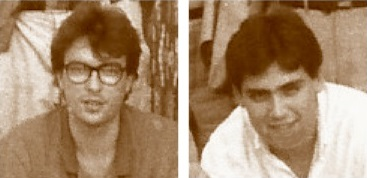 Los ajedrecistas Joan Camacho y Joaquim Travesset II