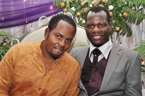 Bongo star Zakayo Magulu with Steven Kanumba photo
