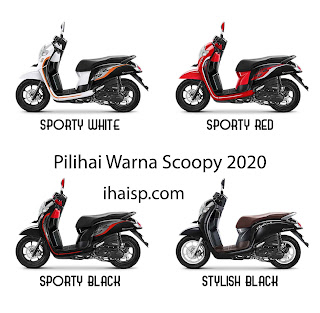 Honda Scoopy 2020: Fitur, Harga, Spesifikasi dan 8 Pilihan Warna