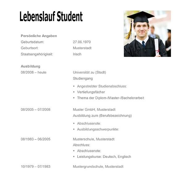 Lebenslauf Student ~ Dokument Blogs