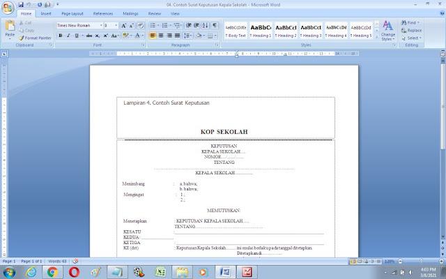 Contoh Surat Keputusan Kepala Sekolah