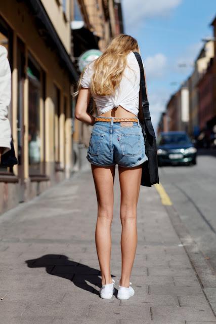 Back knot street style