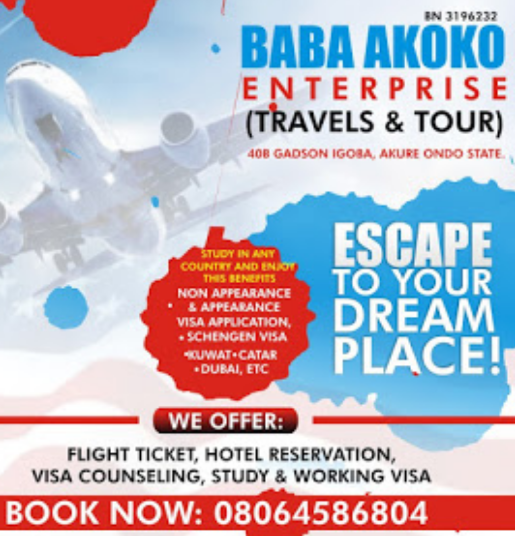 NOW TRAVELLING IS EASY: BOOK NOW 08064586804
