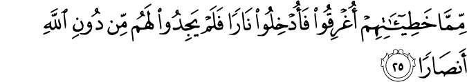 Surat Nuh Ayat 25