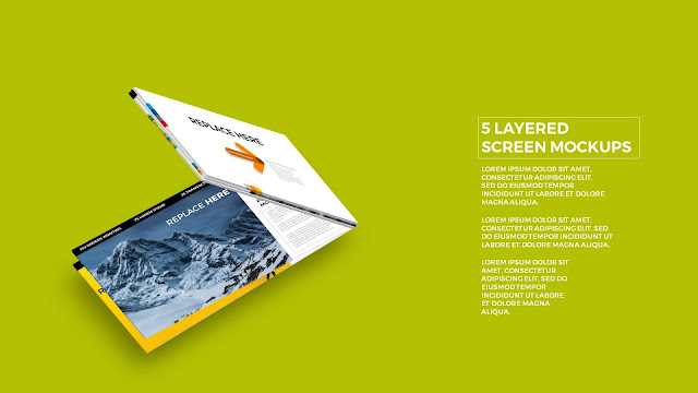 5 Layered Opening Screen Mockukp Templates in Powerpoint Slide4